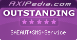 SAEAUT SMS Service awarded 5 Stars at the Axipedia.com