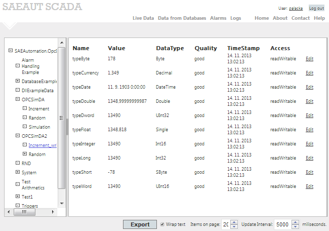 Click to view SAEAUT SCADA screenshots