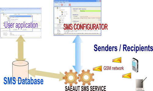Softvare package SAEAUT SMS Server Professional.