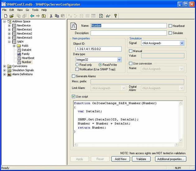 Click to view SAEAUT SNMP OPC Server Professional screenshots